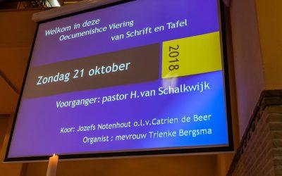 Overweging zondag 21 oktober 2018, oecumenische viering