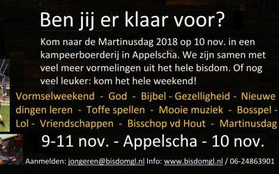 Martinusdag en Vormselweekend 2018
