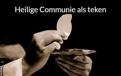 Heilige Communie als teken