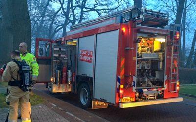 Brandweeroefening in en om de kerk