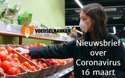 Voedselbank Stad Groningen Corona Nieuwsbrief