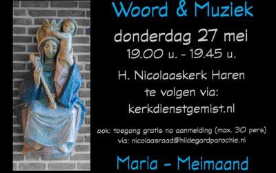 Woord & Muziek in de Maria-meimaand